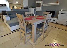 Dining set Extending table and 4 solid wood chairs in oak sonoma, small size!!!