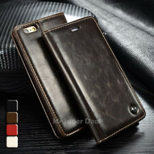 IPhone 5s flip case bolso de cuero sintetico estuche CARTERA CASE COVER funda marrón