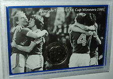 Ipswich Town Vintage UEFA Cup Final Winners Alan Brazil Retro Coin Gift Set 1981