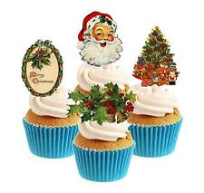 Traditional Christmas Collection 12 Edible StandUp wafer paper cake toppers