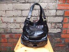 M&S Large Black Leather Tote Shoulder Handbag