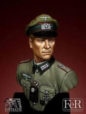Fer Ejército Alemán Wehrmacht de Hauptmann Segunda Guerra Mundial 1/16th MINIBUST Kit Sin Pintar Resina