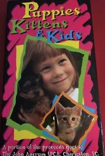 VHS Puppies Kittens & Kids Video Tape SPCA Charlestown SC John Ancrum