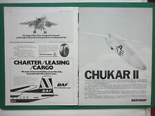 9/78 PUB NORTHROP MQM-74C CHUKAR II DRONE TARGET BRITISH AIR FERRIES JAGUAR AD