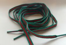 "Limited Edition*, 55"", LUXURY RED AND GREEN, FLAT LACES STRIPE SHOELACE SB XI"