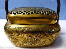 VERY FINE QUALITY OLD CHINESE HAND WARMER - CHARACTER MARKS ON BASE - VERY RARE