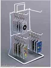 AYS Retail 4 Peg Hook Counter Key Chain & Small Product Display Rack (White)