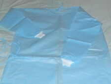 job lot 10 X DISPOSABLE HOSPITAL / MEDICAL / GOWN / CUFF & TIES (latex free)