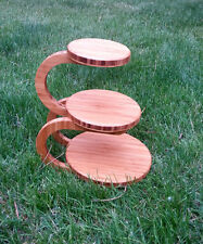 3 tiered wedding cake, cupcake stand - bamboo!