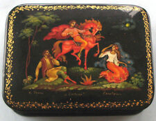 Fine Russian Palekh Hand Painted Lacquer box Signed, No Reserve!