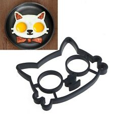 Silicone Cats Shaped Egg Fried Eggs Kitchen Cooking Shaper Tools Mould Ring Mold