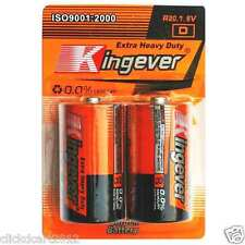 Kingever Size D Heavy Duty Zinc Carbon Battery Pack of 2 Extra Heavy Duty