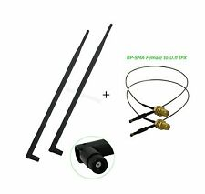 2 9dBi RP-SMA Antenna 12in u.fl Mod Kit for Netgear ROUTER DGND3700 V1 and V2