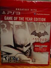 PS3 Game of the Year Edition BATMAN Arkham City - NEW