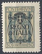1924 FIUME REGNO D'ITALIA 50 CENT MH * - RR11939