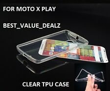 MOTO X PLAY Clear Transparent Soft Silicon Back Case Cover for MOTO X PLAY