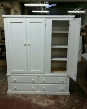 BEDROOM CLASSIQUE (WHITE) TRIPLE WARDROBE (WITH SHELVES) NO FLAT-PACK!!!