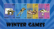 Palau 2014 MNH Winter Games 4v M/S Olympics Bobsleigh Ice Hockey Figure Skating