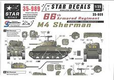 Star M4 Sherman Decals 1/35, 66th Armored Regiment Normandy Omaha AR35 989 DO