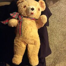 "Old Vintage 20"" Teddy Bear Great Condition"
