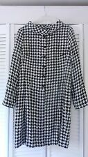 New Donna Morgan women's black and white houndstooth check pattern coat, 14