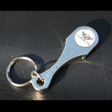 Chevy Corvette C5 US Muscle Car Schlüsselanhänger Anhänger Flaschenöffner Chrom