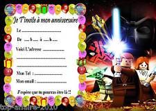 5 cartes invitation anniversaire  Lego Star Wars  02 d'autres en vente !!
