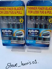 GILLETTE FUSION PROGLIDE 10  PACK 100% GENUINE BRAND NEW 2 PACKS TOTAL 20 BLADES