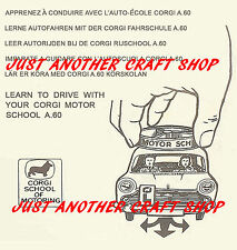 Corgi Toys 255 Austin A60 Motor School Instruction Leaflet USA version of 236