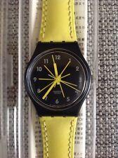 """1997 Swatch Watch """"Mustard"""" w/ Leather Band - GB 179 - NIB VINTAGE!"""