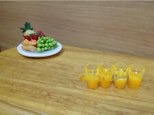 Dollhouse Miniature 1:12 Toy kitchen Drink 4 Cups Of Orange Juice H1.1cm