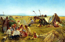 Framed Print - Depiction of American Frontier Family on the Great Plains (Art)