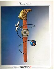 Publicité Advertising 1988 La Montre Swatch Love Field