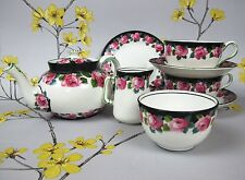 Antique staffordshire george jones & sons crescent china tea set pour deux. c 1900