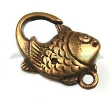20x Wholesale Antique Bronze Fish Lobster Clasp Charms Crafts Findings 160525