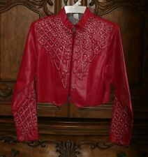 Women's Western Cowgirl Rodeo Pink Jacket with Crystals