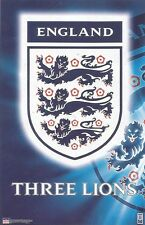 2000 ENGLAND THREE LIONS LOGO Original Starline Poster OOP