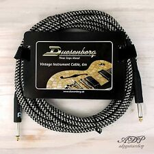 CABLE JACK DUESENBERG 6M VINTAGE BLACK SILVER TWEED DELUXE 6,3mm JACK/JACK DROIT