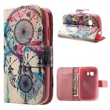 Schutz Tasche Hülle Flip Cover für Samsung Galaxy Young 2 TRAUMFÄNGER BUNT 91B