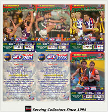 2003 AFL Teamcoach How To Play Trading Card Team Set Fremantle (9)