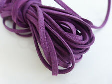 5m x 3mm Purple Faux Imitation Suede Cord Thong Lace Beading Necklace