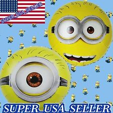 2pcs Big Eyes Minions Balloons Foil Balloon Baby Shower Birthday Party Supplies
