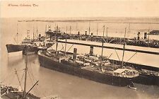 B23/ Galveston Texas Tx Postcard c1910 Wharves Ships Docks Boats