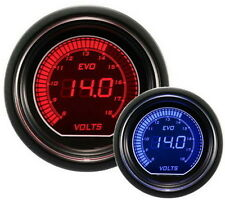 52mm Autogauge Digital EVO Gauge VOLT METER RED/BLUE LED Voltmeter Gauge