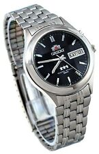 Orient BEM5V002B Men's 3 Star Faceted Crystal Black Dial Automatic Watch