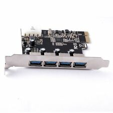 USB 3.0 PCI-E Express ADD-ON Card 4 Ports PC Desktop High Speed DATA Transfer
