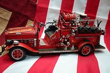 FIRE TRUCK ENGINE LKW tinplate car handmade replica blechmodell metal model