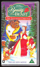 DISNEY - BEAUTY AND THE BEAST - THE ENCHANTED CHRISTMAS - VHS PAL (UK) VIDEO