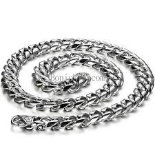 Herren Halskette Edelstahl große schwere Fahrradkette Panzerkette Silber Kette