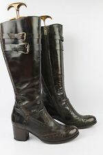 Boots GIXUS All Brown Leather T 37 VERY GOOD CONDITION